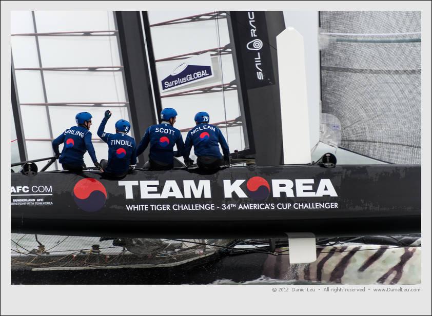Team Korea winning their race!