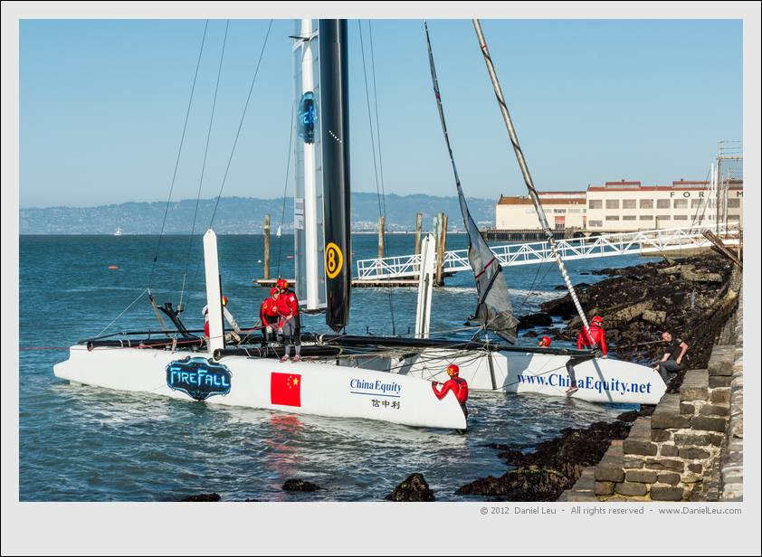 Team China's boat 'on the rocks'