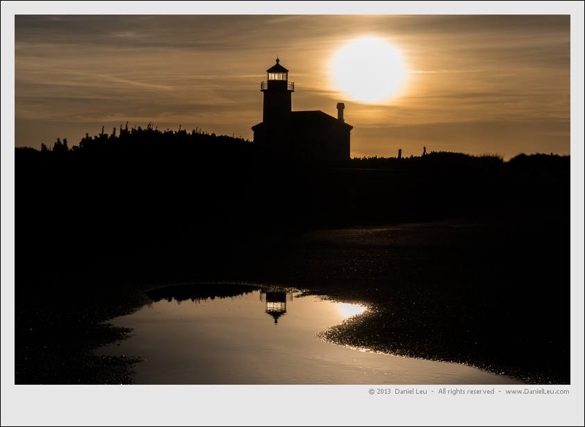 Coquille River Lighthouse silhouette