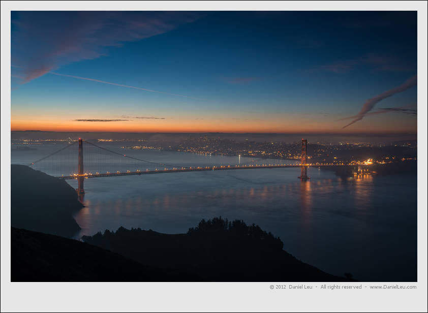 Golden Gate Bridge at morning twilight