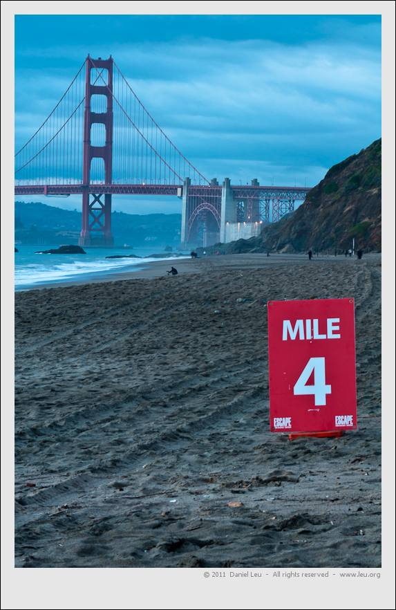 Baker Beach Mile 4 of Triatlon