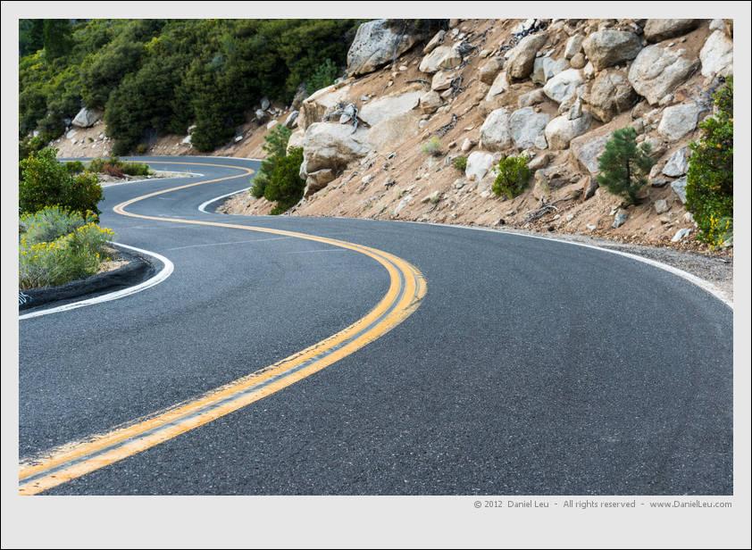 Curvy Sonora Pass Highway 108