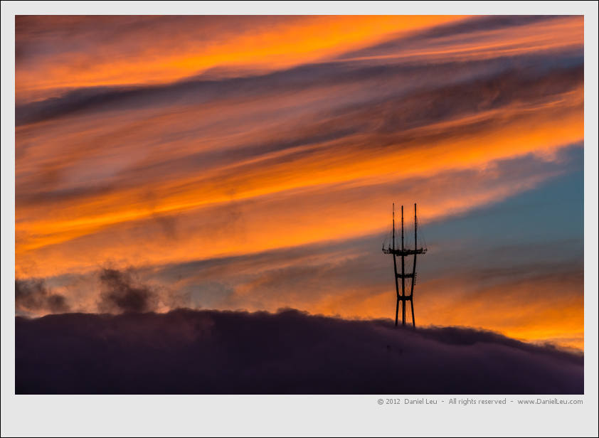 Sutro Tower at Sunset