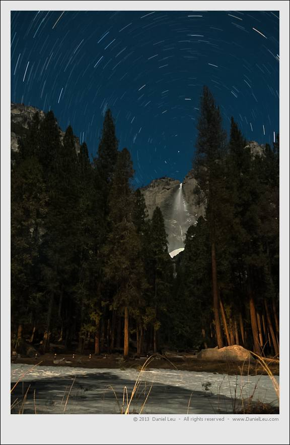 Upper Yosemite Falls with Star Trail
