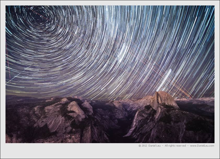 Startrail over Half Dome