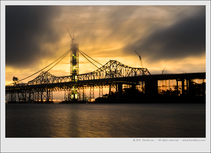 Bay Bridge Construction at sunrise
