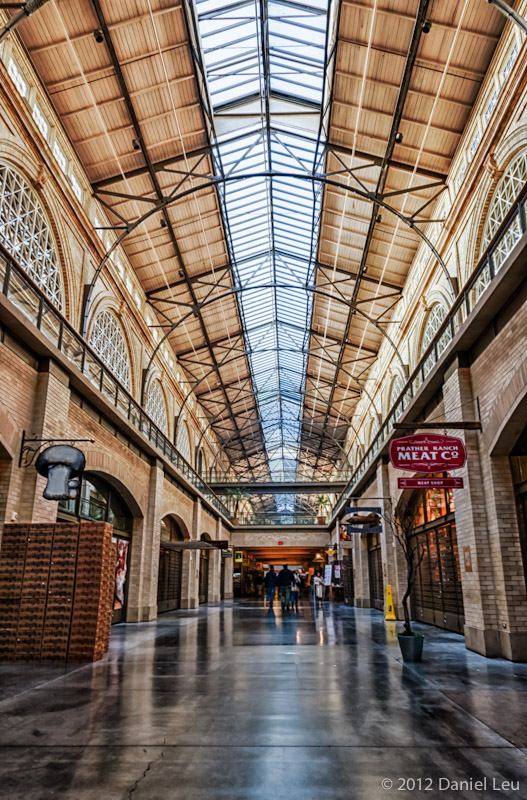 Indoor market at the Ferry Building in San Francisco