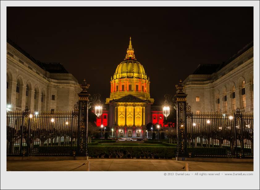 City Hall celebrating the 49ers postseason run